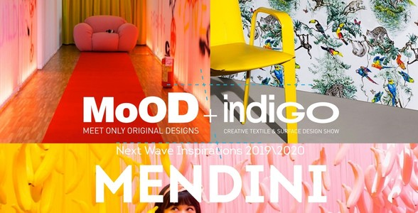 Exhibition of textiles and surface design - MoOD + Indigo in Brussels